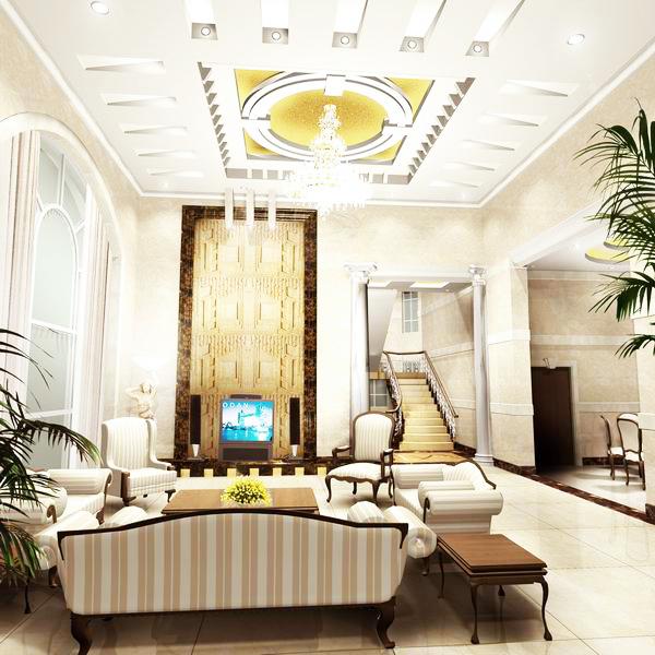 Desain-Ruang-Tamu-Mewah-Rumah-Minimalis-dengan-Lampu-Mewah